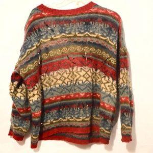 SAGA Icelandic Wool Sweater Cable Knit Punk Rock